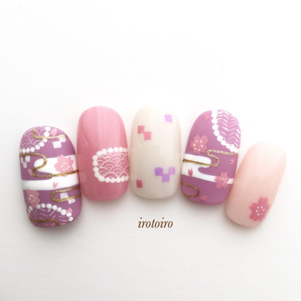 和柄桜ネイル